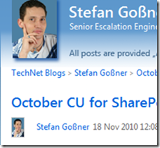October CU for SharePoint 2010 has been rereleased - Stefan Goßner - Site Home -_2010-11-19_10-06-23