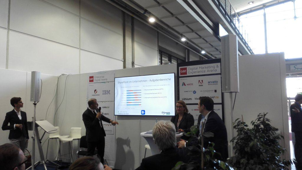 "Impression vom CeBIT-Expert-Panel ""SharePoint 2016"""