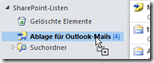 Sharepoint-Ordner in Outlook