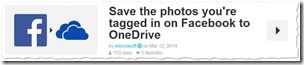 Microsoft's Shared Recipes - IFTTT - Facebook Tagged auf OneDrive