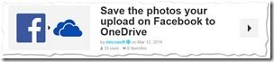Microsoft's Shared Recipes - IFTTT - Facebook mit OneDrive