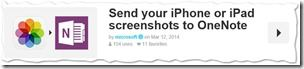 Microsoft's Shared Recipes auf IFTTT - iOS-Screeenshots zu OneNote