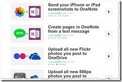 Microsoft's Shared Recipes auf IFTTT