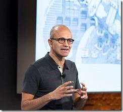 Satya Nadella beim Cloud Briefing
