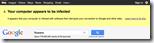 Google warnt User bei bestimmten Malware-Infektionen