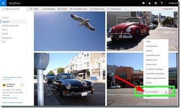Versionsverlauf in OneDrive für alle Dateien