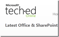 Office & SharePoint  Microsoft Tech·Ed - Windows Internet Explorer_2010-11-17_12-13-57