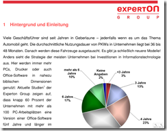 Experton Office Studie 2011 02 thumb - Experton-Studie: Unternehmen sitzen Office-Releasewechsel aus