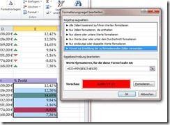 Bedingte Formatierung mit Formel in Excel 2010