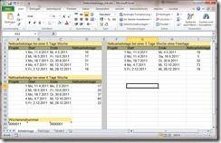 Excel 2010 Beispiel für die Funktion NETTOARBEITSTAGE.INTL