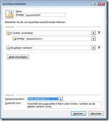 Quick Step für eine Veschieben-Aktion in Outlook erstellen