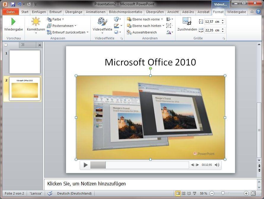 Office-2010-Tipp: Videos in Powerpoint-Präsentationen einbauen und ...