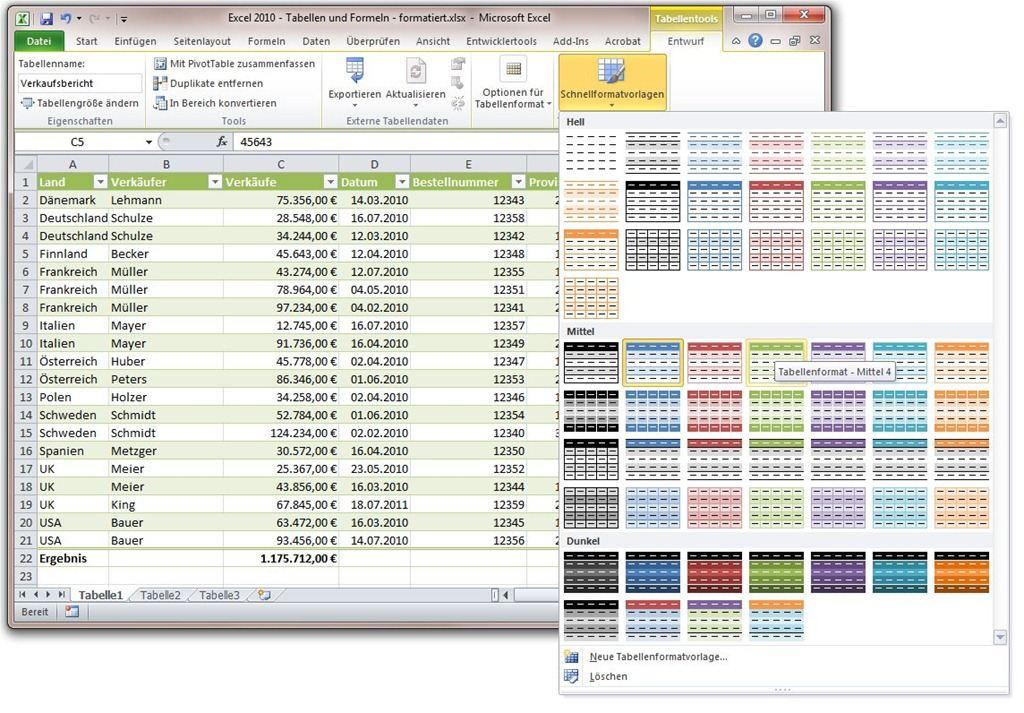 Excel-2010-Tipp: Tabellen für die Formatierung und Verwaltung von ...