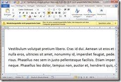 Word 2010: Wiederherstellung einer ungespeicherten Datei
