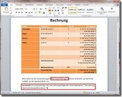 Ergebnis von Feldfunktionen in ein Word-Dokument einfügen