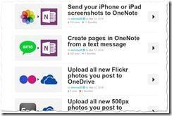 Microsofts Shared Recipes auf IFTTT thumb - Microsoft öffnet OneNote für Web-Dienste – neue Funktionen zum Datenaustausch mit Tools wie IFTTT, Feedly & Co.
