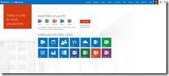 Die neue Office 365 Homepage thumb - Startmenü: Die neue Homepage  für Office 365