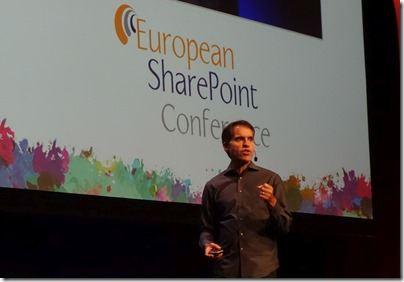 Jeff Teper, SharePoint und Office 365-Chef bei seiner Eröffnungsrede auf der European SharePoint Conference 2015 in Stockholm