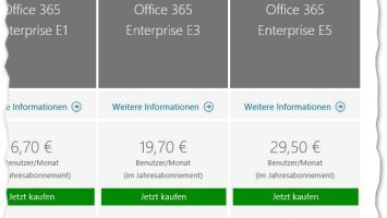 Vergleich aller Office 365 Business Plne E5 355x200 - Vergleich: Office 365-Pläne Business ProPlus, E1, E3, E5