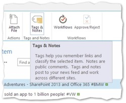 SharePoint 2013 Kategorien und Notizen - Tags and Notes