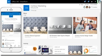 SharePoint 2016 Team Site und Mobile App