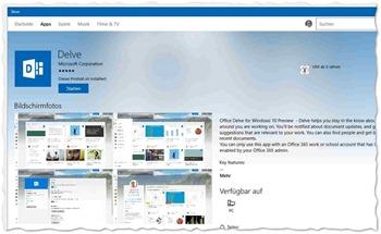 Office 365 Delve-App für Windows 10_