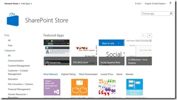 SharePoint App-Store