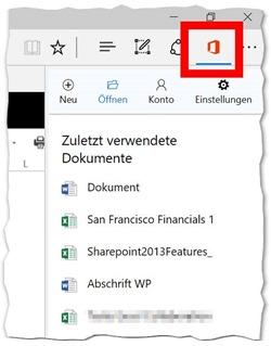 Office-Online-Erweiterung für Edge