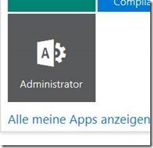 Zum Admin-Center über das Office 365-Menü