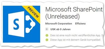 SharePoint Mobile App thumb 355x168 - SharePoint-App für Windows 10 Mobile und Android als Preview verfügbar