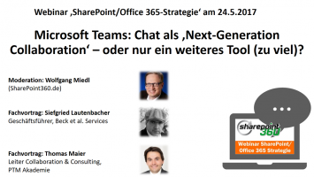 "Webinar Teams vs. Slack am 24.5.201 355x200 - Download Webinar: ""Microsoft Teams vs. Slack - Chat als Next-Generation Collaboration?"""