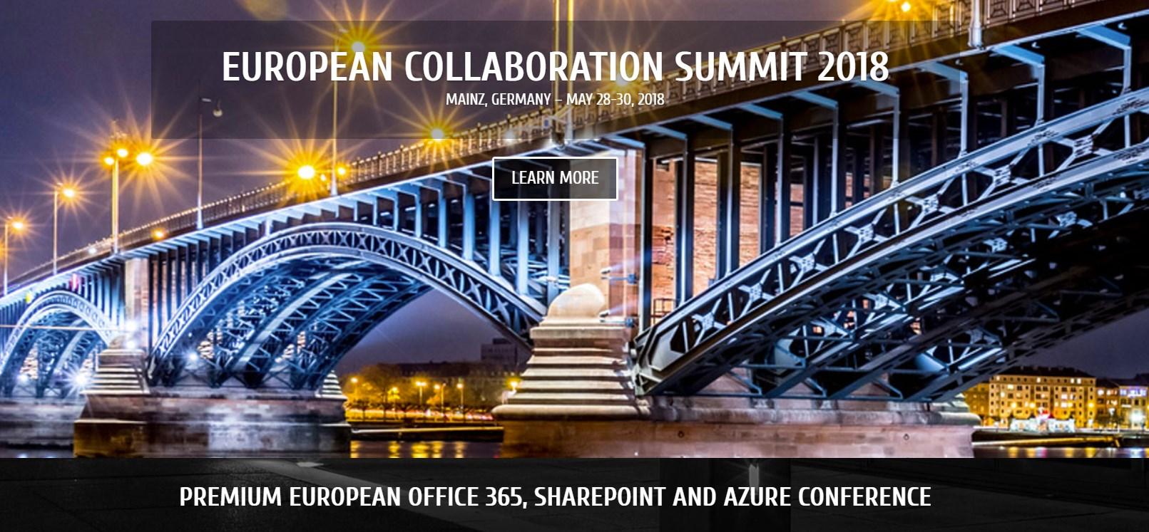 2017 11 10 15 14 45 Start - European Collaboration Summit