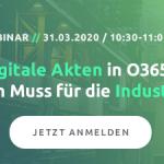WEBINAR-Einladung: 'Digitale Produktionsakten in der Industrie mit Microsoft 365' mit d.velop am 15.6.