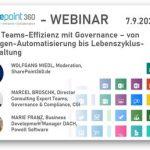 Neuer Webinar-DOWNLOAD: 'Mehr Teams-Effizienz mit Governance – von Automatisierung bis Tool-Nutzung'