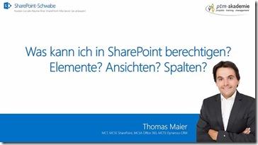 Was kann man in SharePoint berechtigen