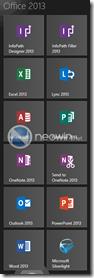 Office 2013-Icons auf dem Windows-8-Startbildschirm