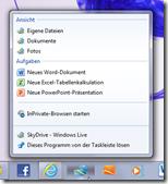 Nettes Gimmick: Mit dem Internet Explorer 9 lässt sich Skydrive als Symbol in der Windows-7-Taskleiste anpinnen.