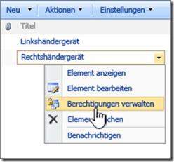 SharePoint Berechtigungen verwalten