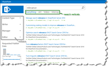 SharePoint Enterprise Search Center