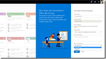 Office 365 Modern Team Site