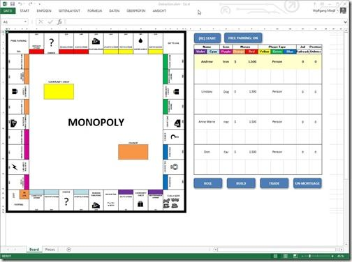 Monoply mal anders - in Excel