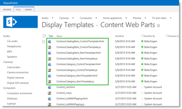 SharePoint Display-Templates_Anzeigevorlagen