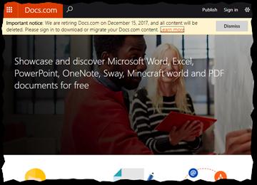 Microsoft schließt Docs.com