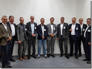 Christoph Witte (IT-meets-Press), Ralf Klemke (PlusServer), Patrick Quellmalz (VOICE-CIO Service GmbH), Erich Vogel (Computacenter AG), Andreas Zipser (Sage), Heiko Henkes (ISG), Dr. Martin Wunderli (Trivadis), Eckhard Schwarzer (DATEV eG), Wolfgang Miedl (IT-meets-Press), Silvio Kleesattel (Beck et al. Services).