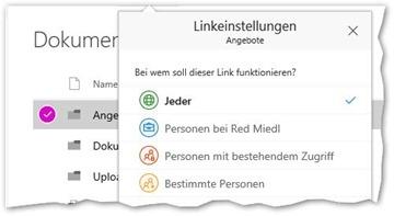 Microsoft vereinfacht das Freigeben in OneDrive und SharePoint Online