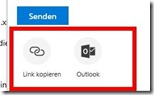 Verbesserte 'Teilen'-Funktionen in Office 365 -  Senden, Link, Outlook