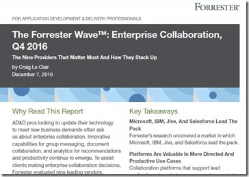 Forrester Enterprise Collaboration 2016