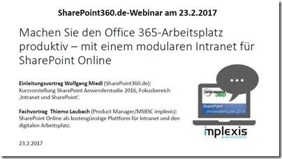 Office 365-Arbeitsplatz produktiv - mit modularem Intranet