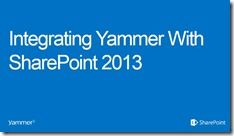 Integrating Yammer With SharePoint 2013