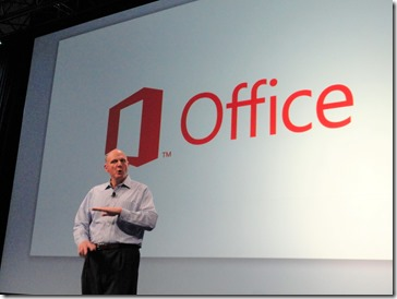 Steve Ballmer am 6.7.2012 bei der Surface und Office 365 Premiere in San Francisco